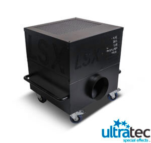 Earth Water Sky is proud to offer Ultratec LSX Low Fog Converter systems for our live event productions. The LSX is an AC powered cooling unit that chills incoming fog from its companion fog machines (recommended machines - Show, Stage and G300) to create a low-lying blanket of fog similar to that of dry ice machines, without the inconvenience of handling dry-ice.    The LSX is a clear advancement in low-smoke technology, incorporating proven high performance refrigeration components into a compact, rugged package specifically designed to chill (between 5-25 degrees Fahrenheit) volumes of incoming fog effectively and efficiently. Controllable cloud density, depth and area coverage make the LSX the professional´s choice.